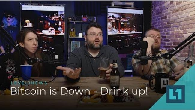 Embedded thumbnail for News: Bitcoin is down, Drink up #level1news